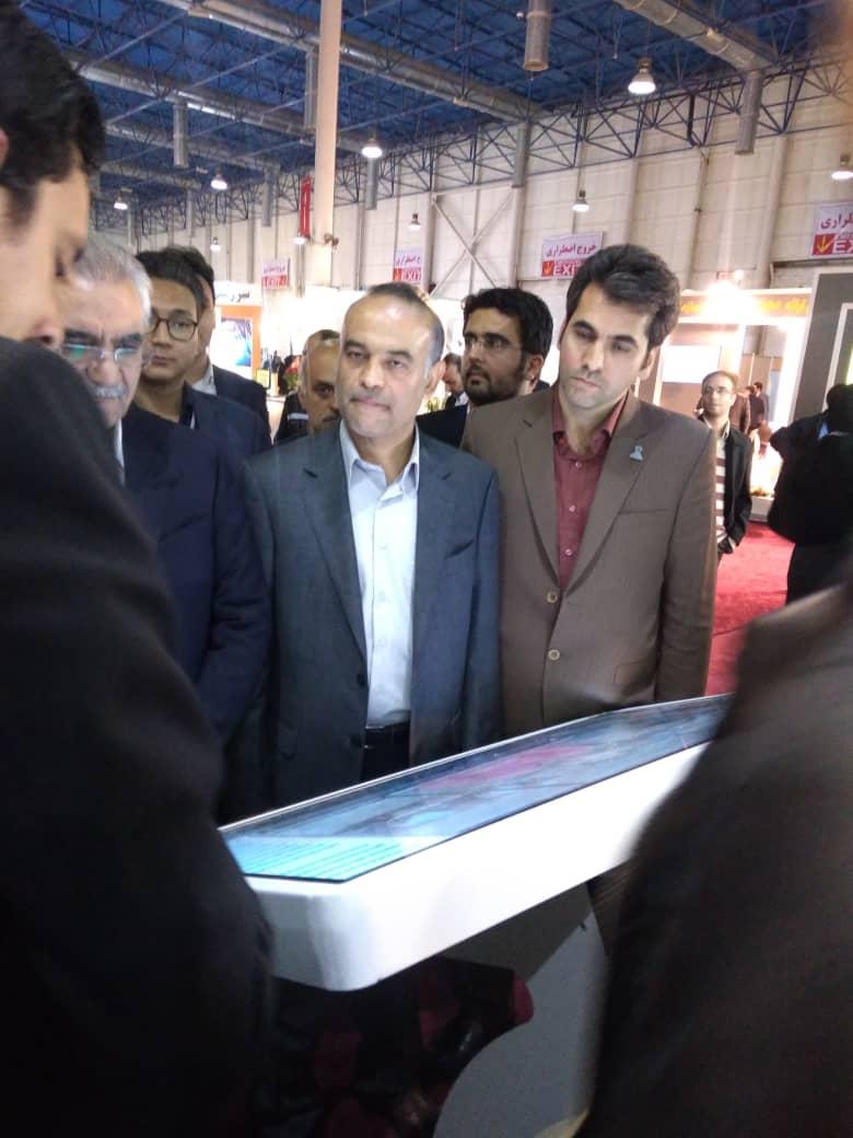 کیوسک اطلاع رانی نمایشگاهی یوسنسی در نمایشگاه شهر هوشمند مشهد